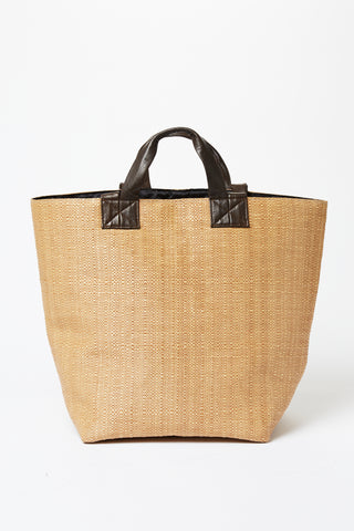 Straw Weave Shopping Tote
