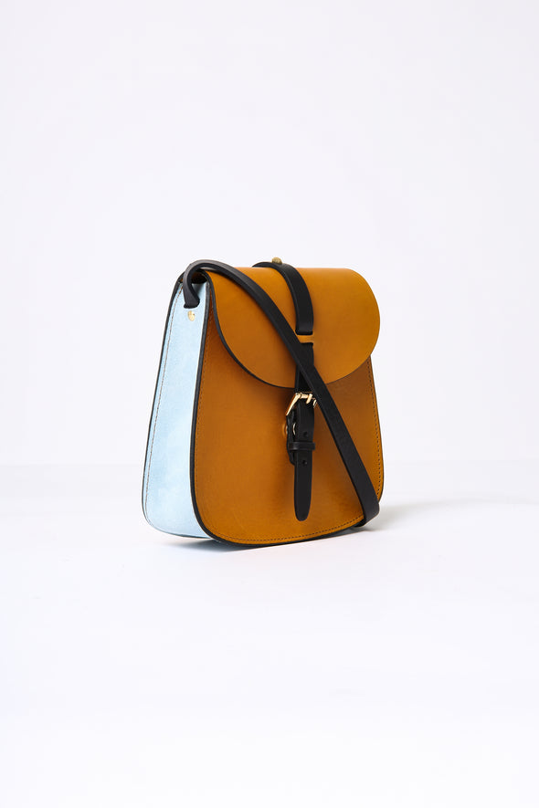 MINI SADDLE BAG IN LEATHER