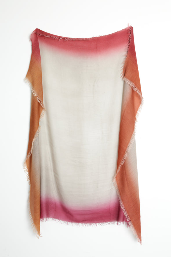 NAXOS HAND-DYED SCARF IN ITALIAN CASHMERE