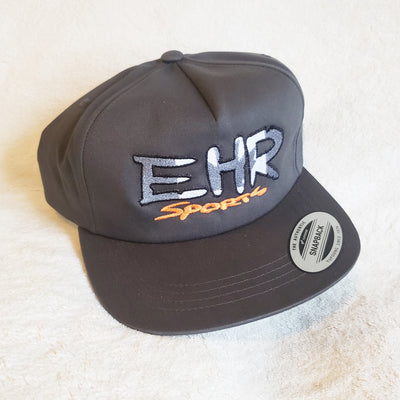 EHR Sports Charcoal Yupoong Flatbeak snapback