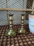 Vintage Brass Candlesticks (Set of 2)