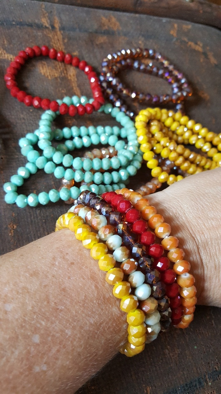 CRYSTAL BEADED LAYERING BRACELETS