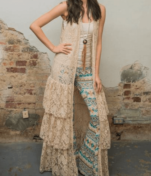 LAYERED RUFFLE LACE DUSTER AT SHE IS WHISKEY IN A TEACUP