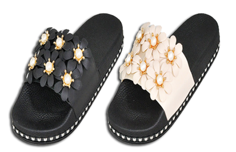 Wholesale Women's Shoes Assorted Flat Bling Slippers Sandals Madilyn NSU22