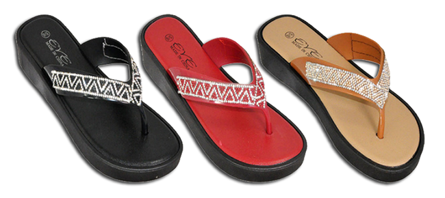 Wholesale Women's Shoes Assorted Flat Bling Sandals Talia NSU21