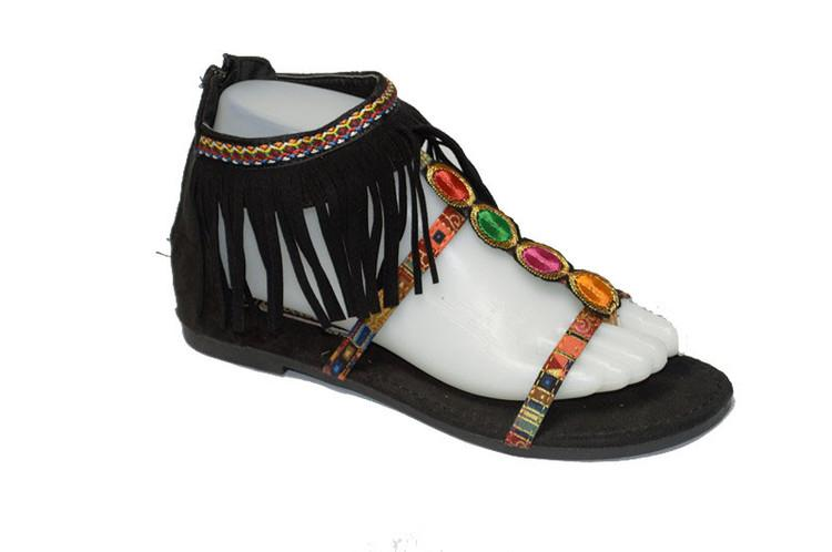 Wholesale Women's Shoes Fringe Open Toe Instep Sandals NG31