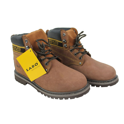 Wholesale Men's Shoes Work Boots Lace Up Steel Rounded Toe NE51