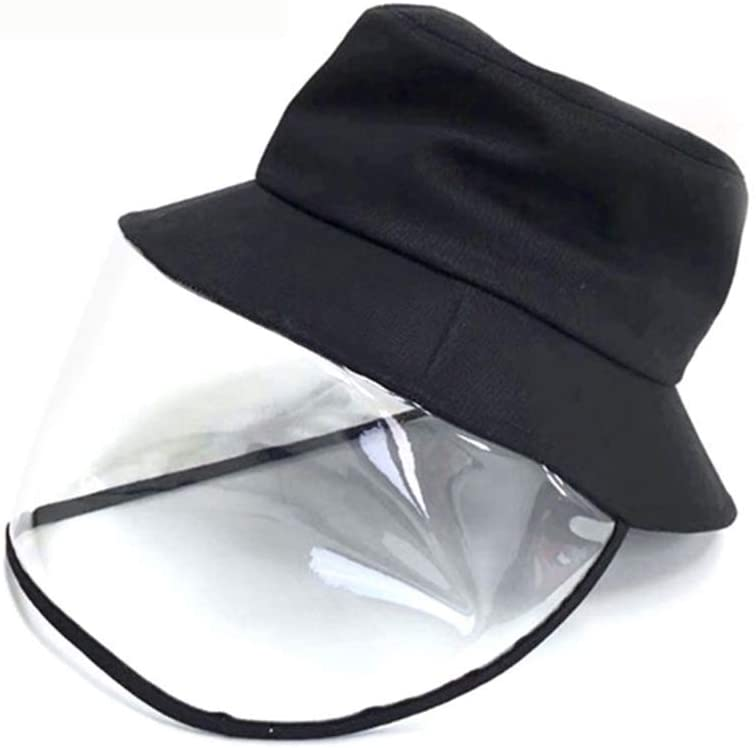 Wholesale Face Shield Clear Anti Spitting Protective Face Shield, Anti-Saliva Fisherman Cap Windproof Dustproof Sand Proof Mask Anti-UV Fog Splash Sun Protective Hat N6MH