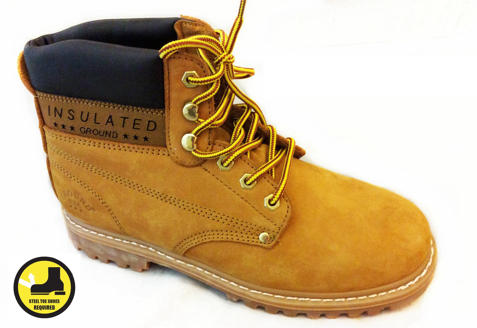 Wholesale Men's Shoes Steel Toe Boots Wheat Garry NCP6T