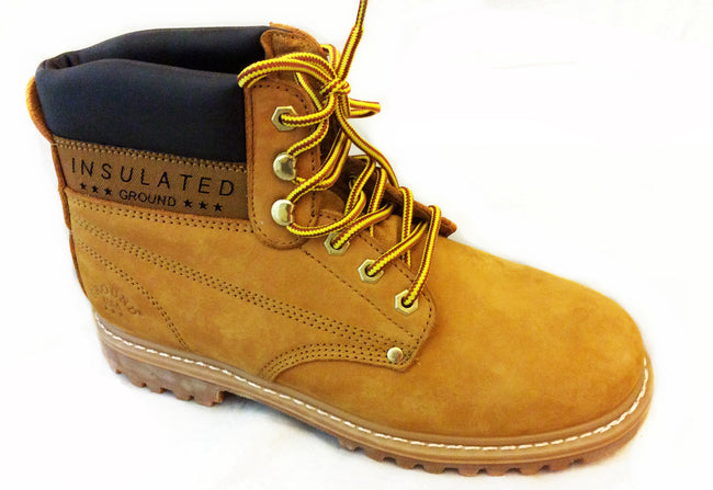 Wholesale Men's Shoes Insulated Work Lace Up Steel Toe Leather Boots NCP61