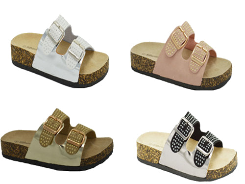 Wholesale Women's Shoes Flat Slippers Sandals Daphne Assorted NG66