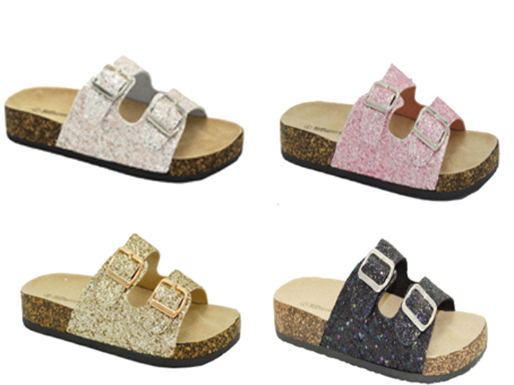Wholesale Women's Sandals Flat Embellished Assorted Mix Brenz NG67