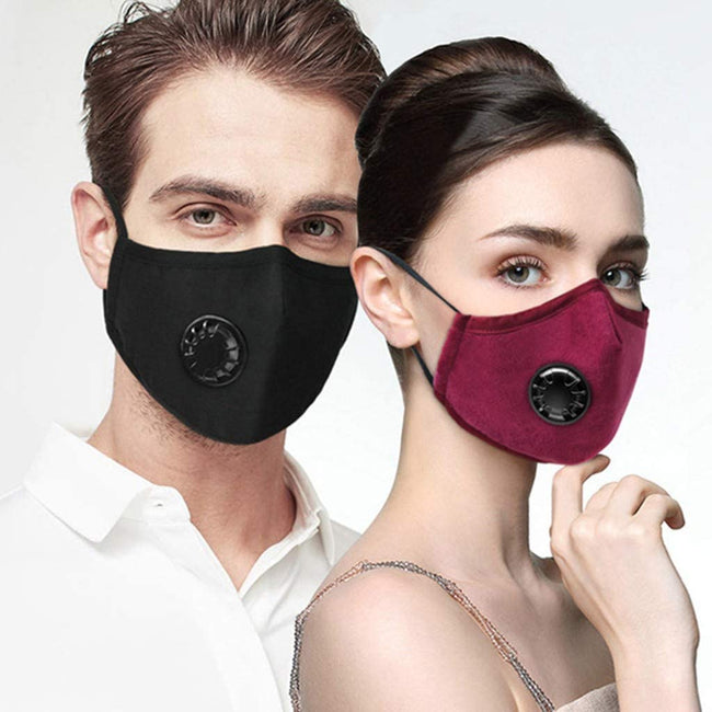 Wholesale Protective Reusable Face Bandanas Face with Earloop Black Only N6Cp