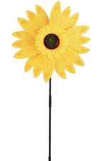Wholesale Accessories Assorted 6-Piece Sunflower Windmill NH75