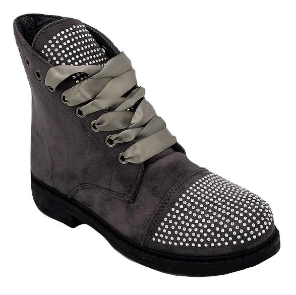 Wholesale Women's Shoes Boots Lace Up Round Toe NG70