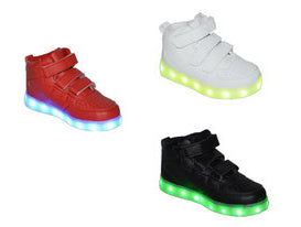 Wholesale Kid's Footwear Children Led Light Glow Velcro Strap Sun NG7k