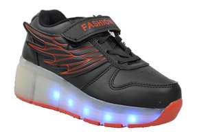 Wholesale Kid's Footwear Children Led Light Glow Velcro Strap Sky NG76