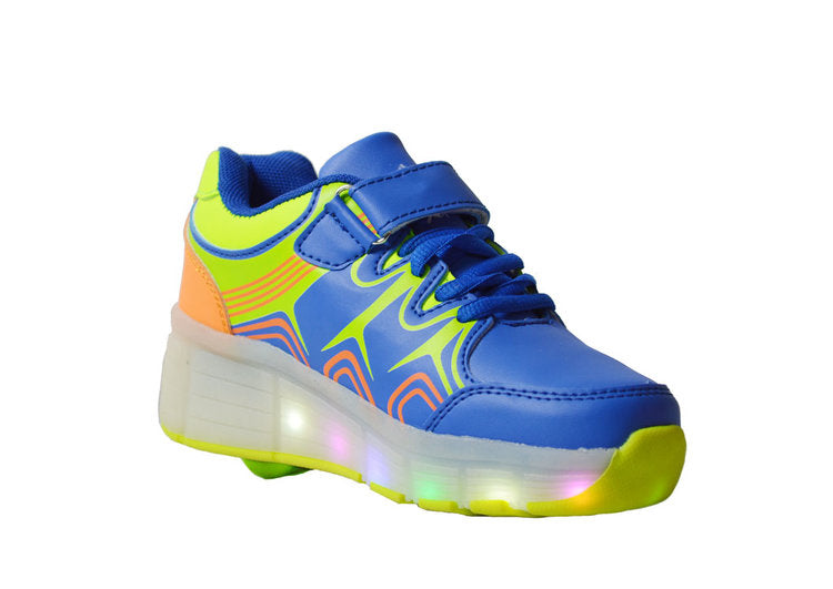 Wholesale Kid's Footwear Sneakers Lace Up LED Lights NG7K