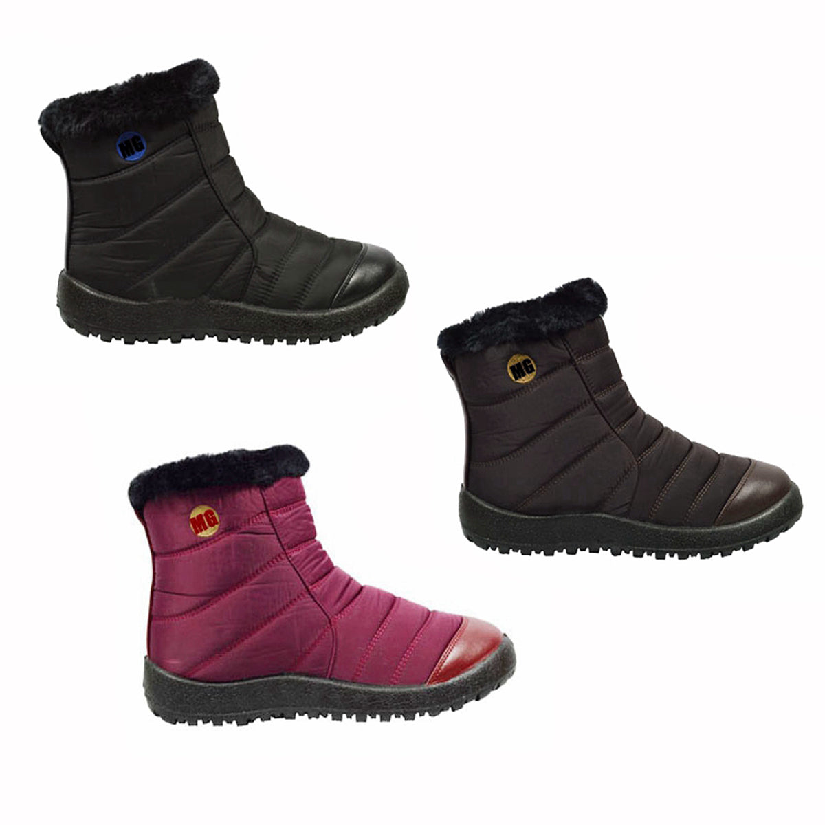 Wholesale Women's Shoes Winter Boots Fur Lining Cheena NCP86