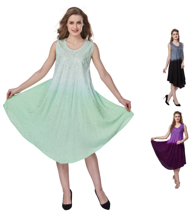 Wholesale Clothing Dresses Plus Rayon Dress-Hombre Dye 140gms 36/Case (1X-3X)GY/BK,LT.PP/DK PP,LT GN/DK GN NWH05
