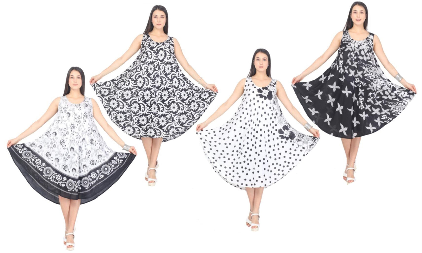 Wholesale Clothing Dresses SL CHALL B/W ASST 12/48/CASE (1X-3X) NWP3x