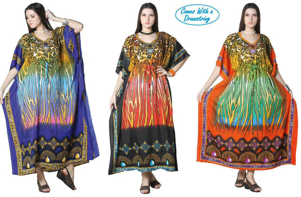 Wholesale Clothing Dresses Caftan-Long 48/Case O/S (3 Colors) NWG11