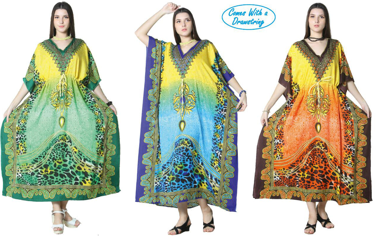Wholesale Clothing Dresses Caftan-Long 48/Case O/S (3 Colors) NWG12