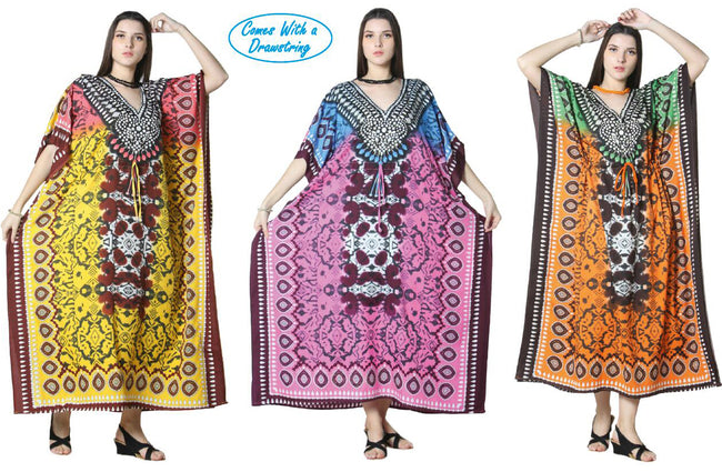 Wholesale Clothing Dresses Caftan-Long 48/Case O/S (3 Colors) NWG13