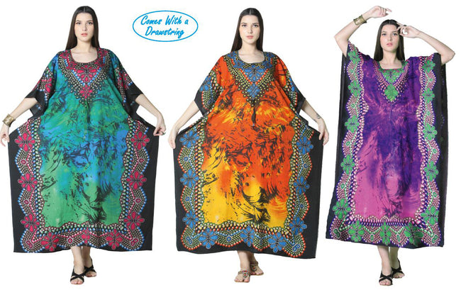 Wholesale Clothing Dresses Caftan-Long 48/Case O/S (3 Colors) NWG16