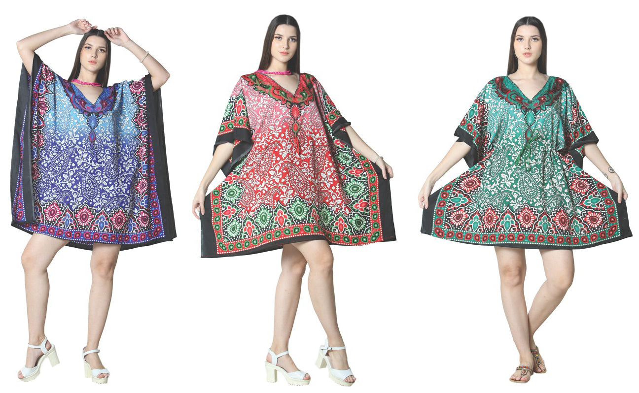 Wholesale Clothing Dresses Caftan-Short 48/Case O/S (3 Colors) NWG04
