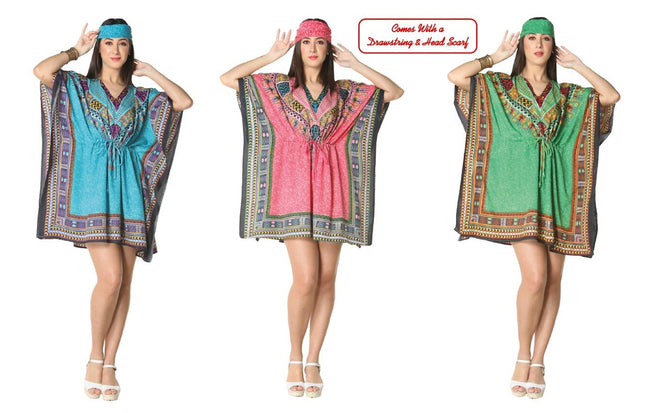 Wholesale Clothing Dresses Caftan-Short 48/Case O/S (3 Colors) NWG10