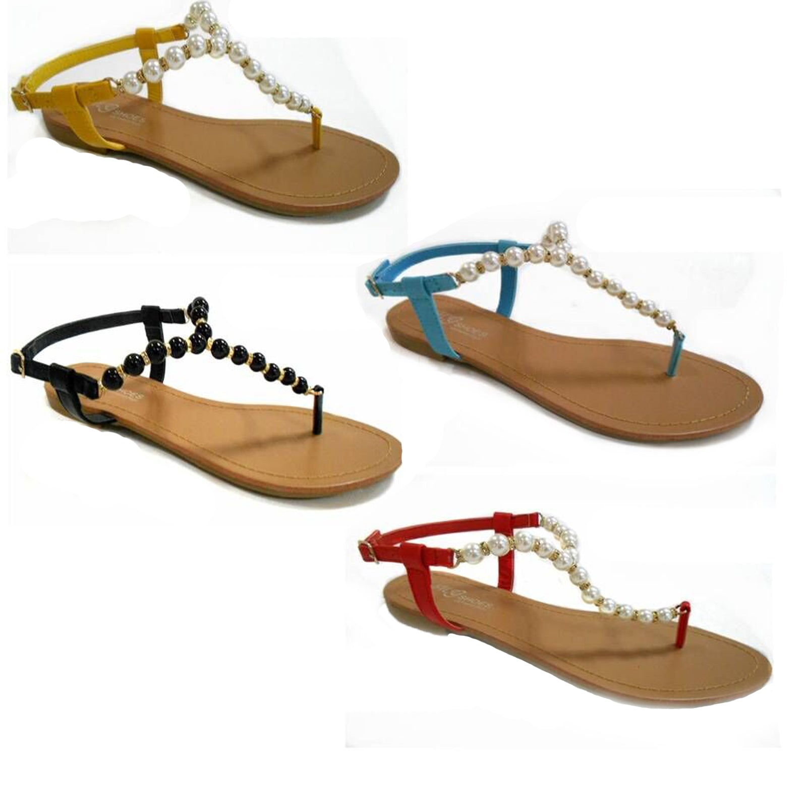 Wholesale Women's SHOES beaded thong sandals ncpb3