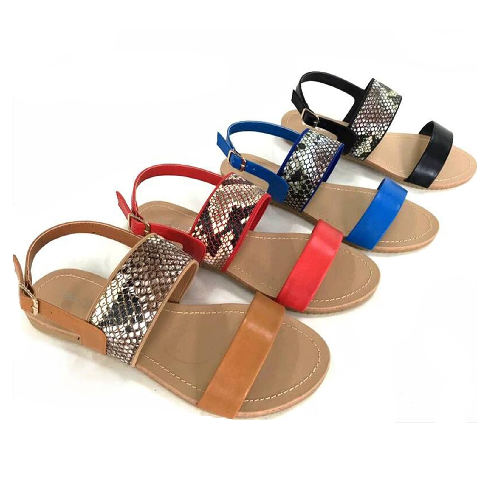 Wholesale Women's shoes double strap snake SANDALS ncpc6
