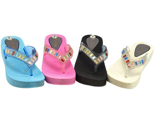 Wholesale Women's Shoes Embellished Slippers Claire NG19