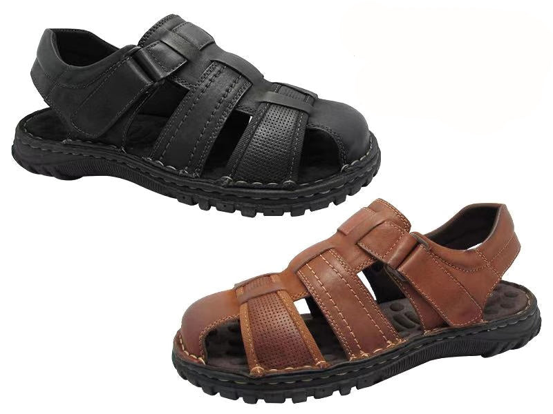 Wholesale Men's Shoes Leather Sandals Vic NCPD5