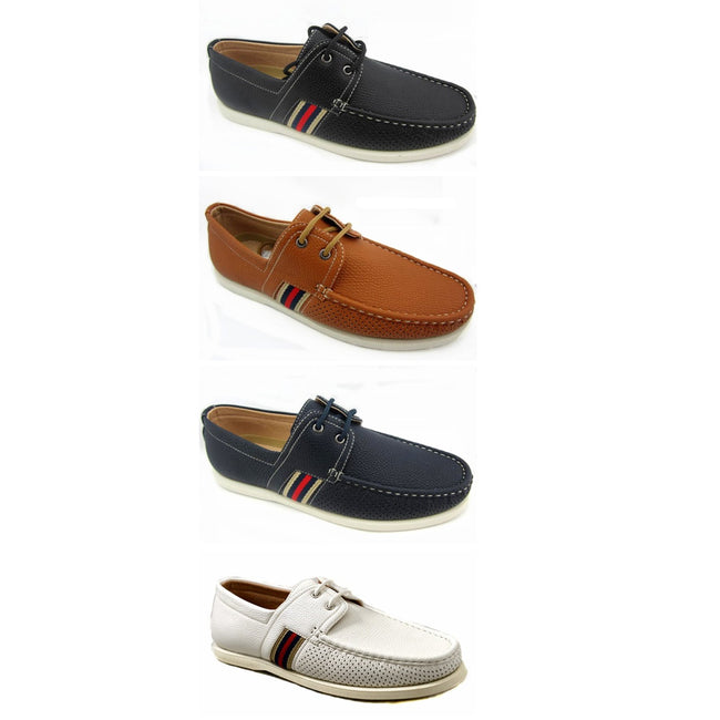 Wholesale Men's Shoes Derby Lace Up Boat Apron Toe NCPE1