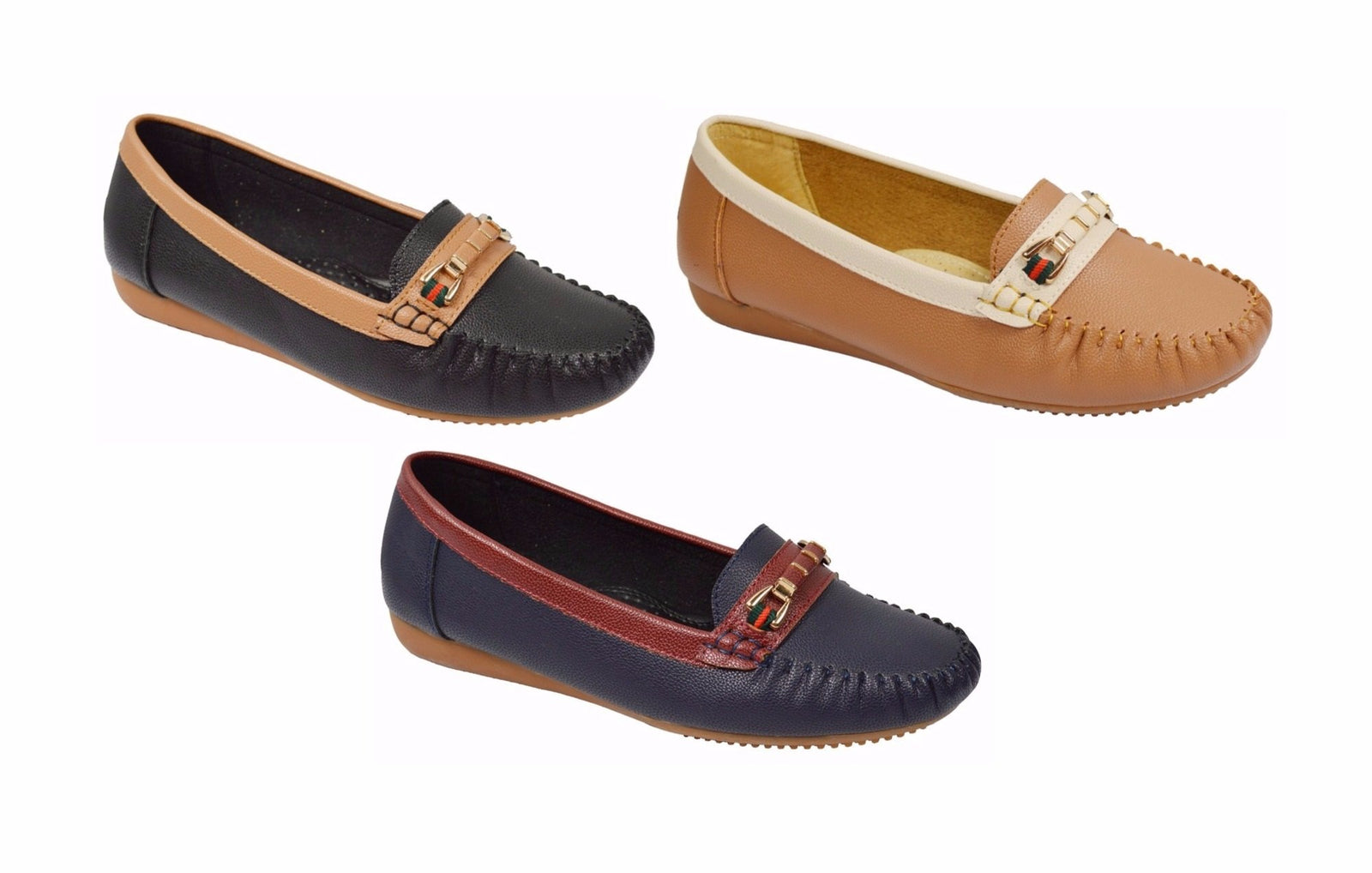 Wholesale Women's Shoes Loafers Slip On Moccasin NGF6