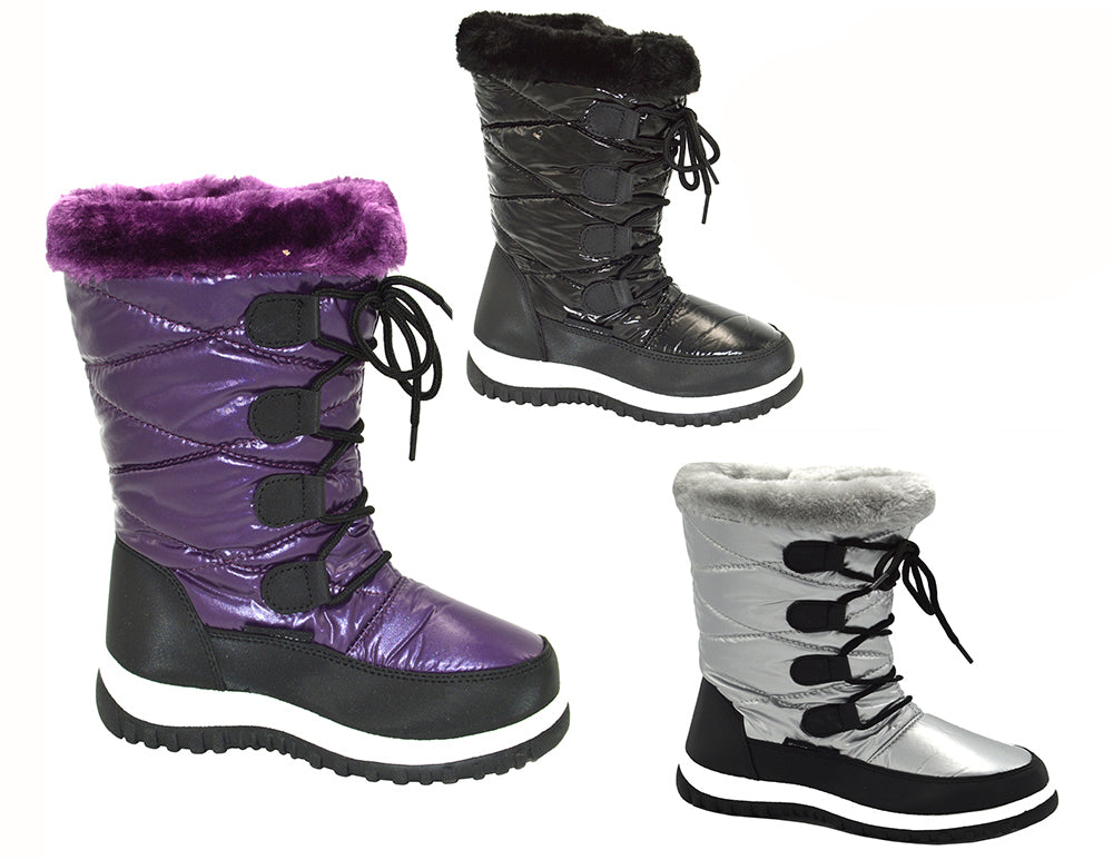 Wholesale Kid's Footwear Children Metallic Boots Stephanie NGG0