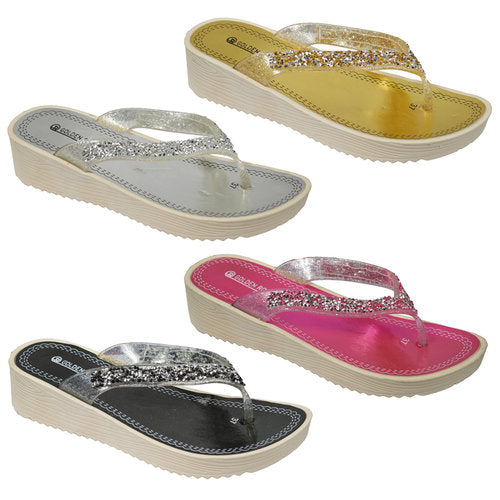 Wholesale Women's Shoes Flat Slippers Assorted Sandals Veronica NGG7