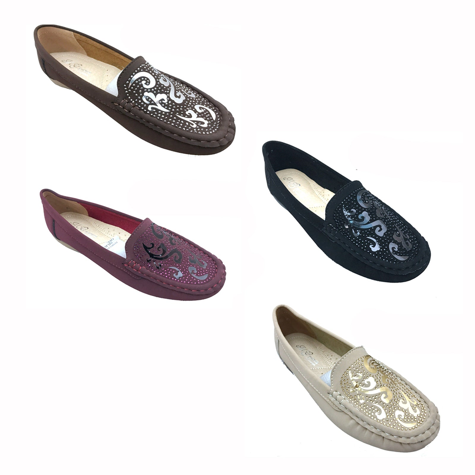 Wholesale Women's Shoes Loafer Slip Embellished Victoria NCPH6