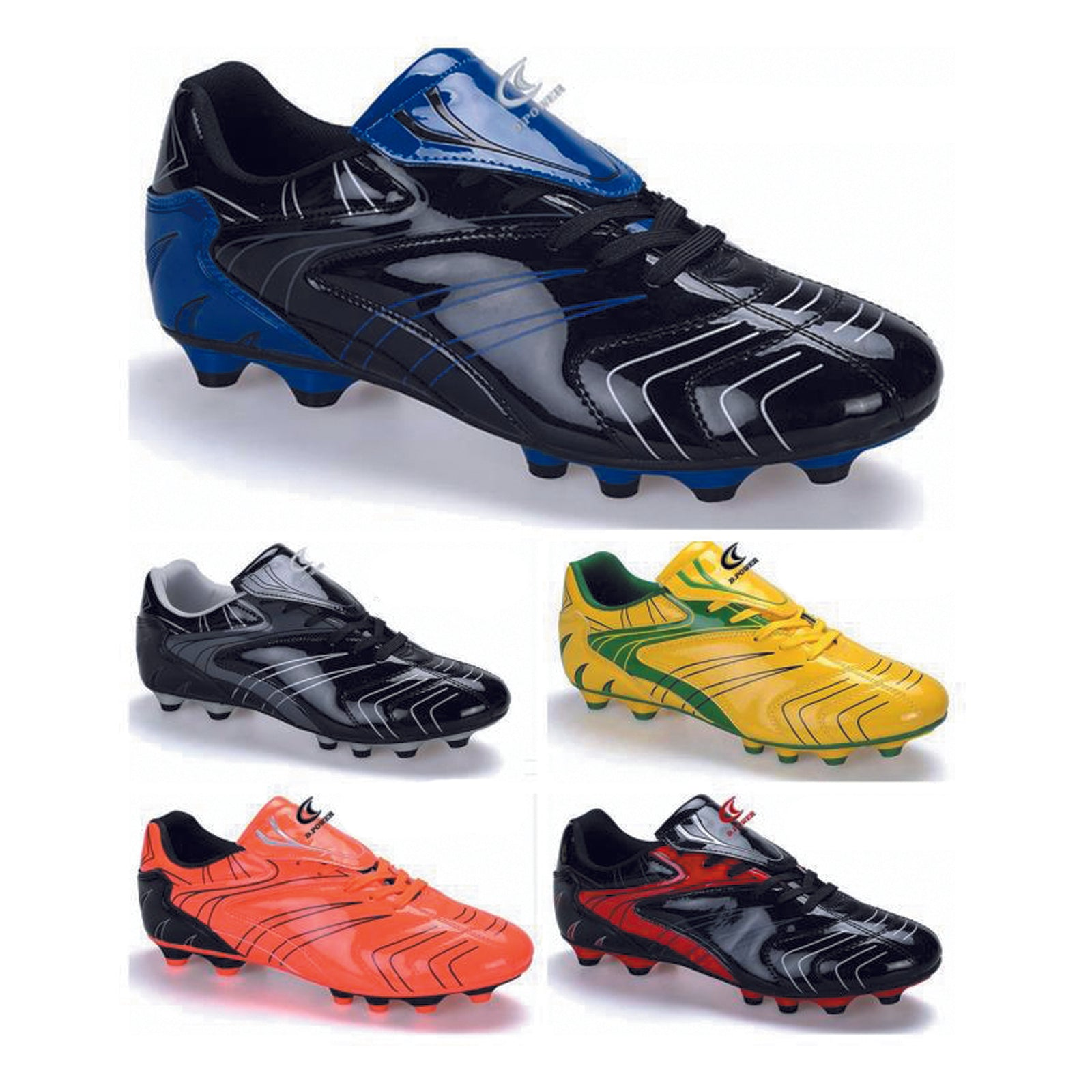 Wholesale Men's Shoes Lace Up Soccer Sporty Metallic Johnny NCP87