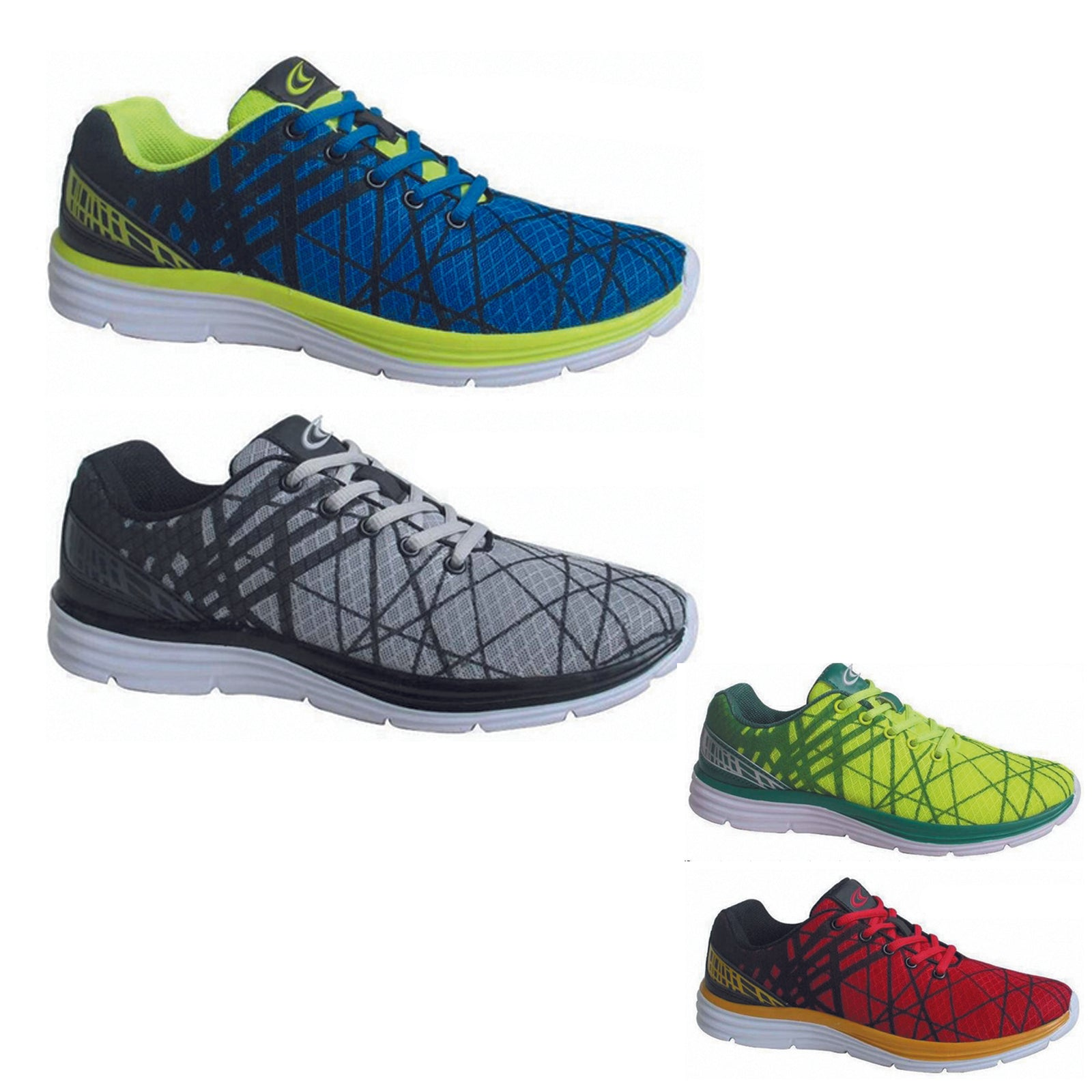 Wholesale Men's Shoes Lace Up Trainer Spider Web Mesh Tom NCP10