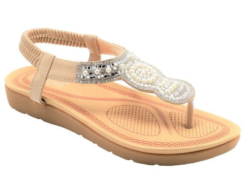 Wholesale Women's Shoes Flat Sandals Rosa NGj7