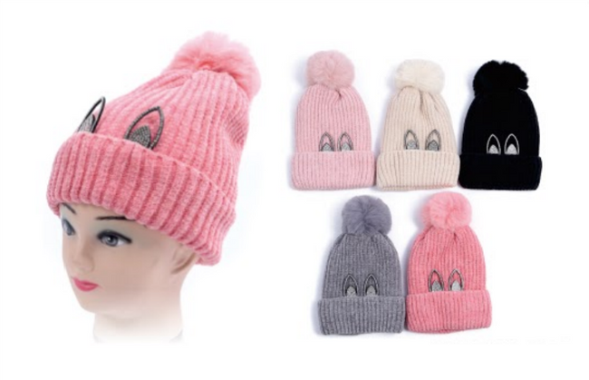 Wholesale Clothing Accessories Assorted Fall Winter Hats KIDS NTT76