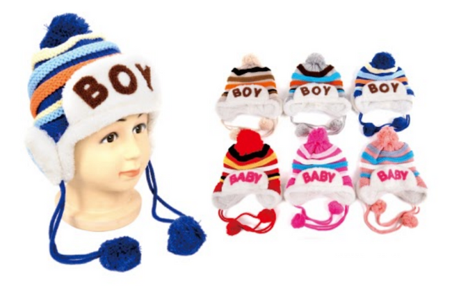 Wholesale Clothing Accessories Assorted Fall Winter Hats KIDS NTT09