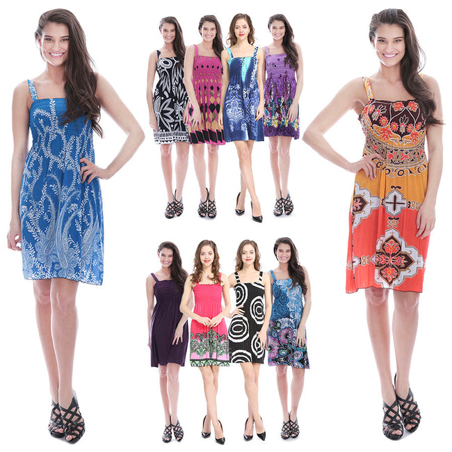 Closeout Wholesale Women's Maxi Summer Short Dress NW81