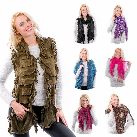 Wholesale Women's Closeout Selected Different Styles Infinity Loop Scarves N66m