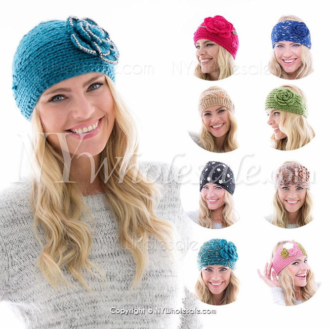 Closeout Wholesale Women's Selected Different Styles Winter Headbands N6Sm