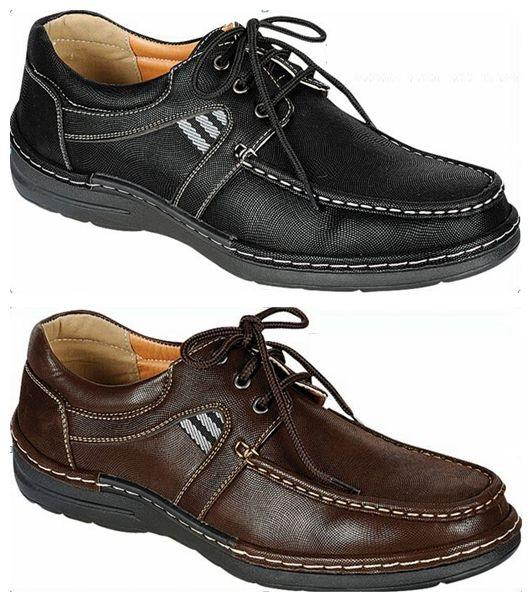 Wholesale Men's Shoes Derby Lace Up Boat Apron Toe NCPR3