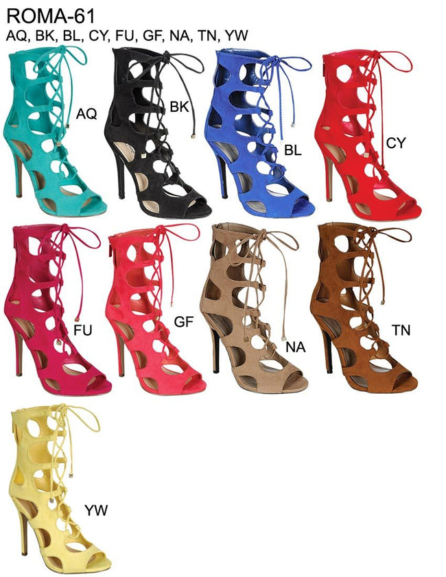 Closeout Wholesale Women high heel straps sandals NO-ROMA-61